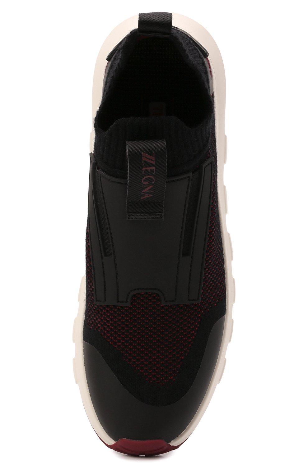 Мужские текстильные кроссовки techmerino sock 2.0 elastic Z ZEGNA бордового цвета, арт. A5106X-LHSTE | Фото 5 (Материал внешний: Текстиль; Материал внутренний: Текстиль; Подошва: Массивная; Стили: Спорт)