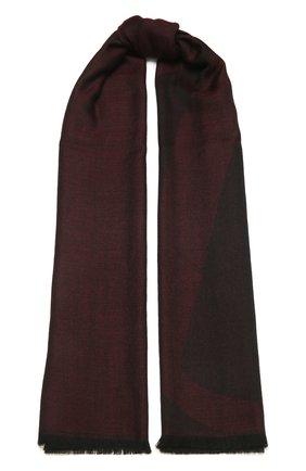 Мужской шарф из кашемира и шелка ERMENEGILDO ZEGNA бордового цвета, арт. Z2L35S/22F | Фото 1