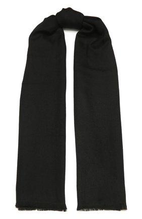 Мужской шарф из кашемира и шелка ERMENEGILDO ZEGNA черного цвета, арт. Z2L35S/22F | Фото 1