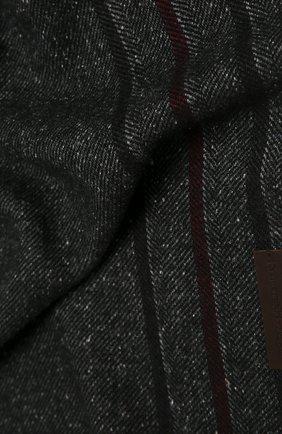 Мужской шарф из шерсти и шелка ERMENEGILDO ZEGNA темно-серого цвета, арт. Z2L07S/26F | Фото 2