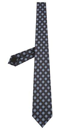 Мужской шелковый галстук ERMENEGILDO ZEGNA темно-синего цвета, арт. Z2D12T/18B | Фото 2 (Материал: Текстиль; Принт: С принтом)