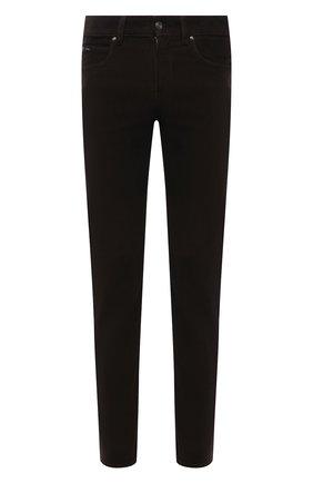 Мужские хлопковые брюки Z ZEGNA темно-коричневого цвета, арт. VY719/ZZ530 | Фото 1