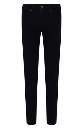 Мужские хлопковые брюки Z ZEGNA темно-синего цвета, арт. VY719/ZZ530 | Фото 1 (Длина (брюки, джинсы): Стандартные; Материал внешний: Хлопок; Случай: Повседневный; Стили: Кэжуэл)