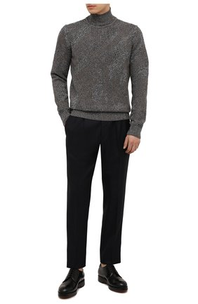 Мужские шерстяные брюки ERMENEGILDO ZEGNA темно-синего цвета, арт. UYI09/TP22 | Фото 2