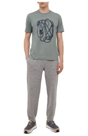 Мужские джоггеры из шерсти и кашемира ERMENEGILDO ZEGNA серого цвета, арт. UY560/TR0 | Фото 2 (Материал внешний: Шерсть; Длина (брюки, джинсы): Стандартные; Мужское Кросс-КТ: Брюки-трикотаж; Стили: Спорт-шик; Силуэт М (брюки): Джоггеры)