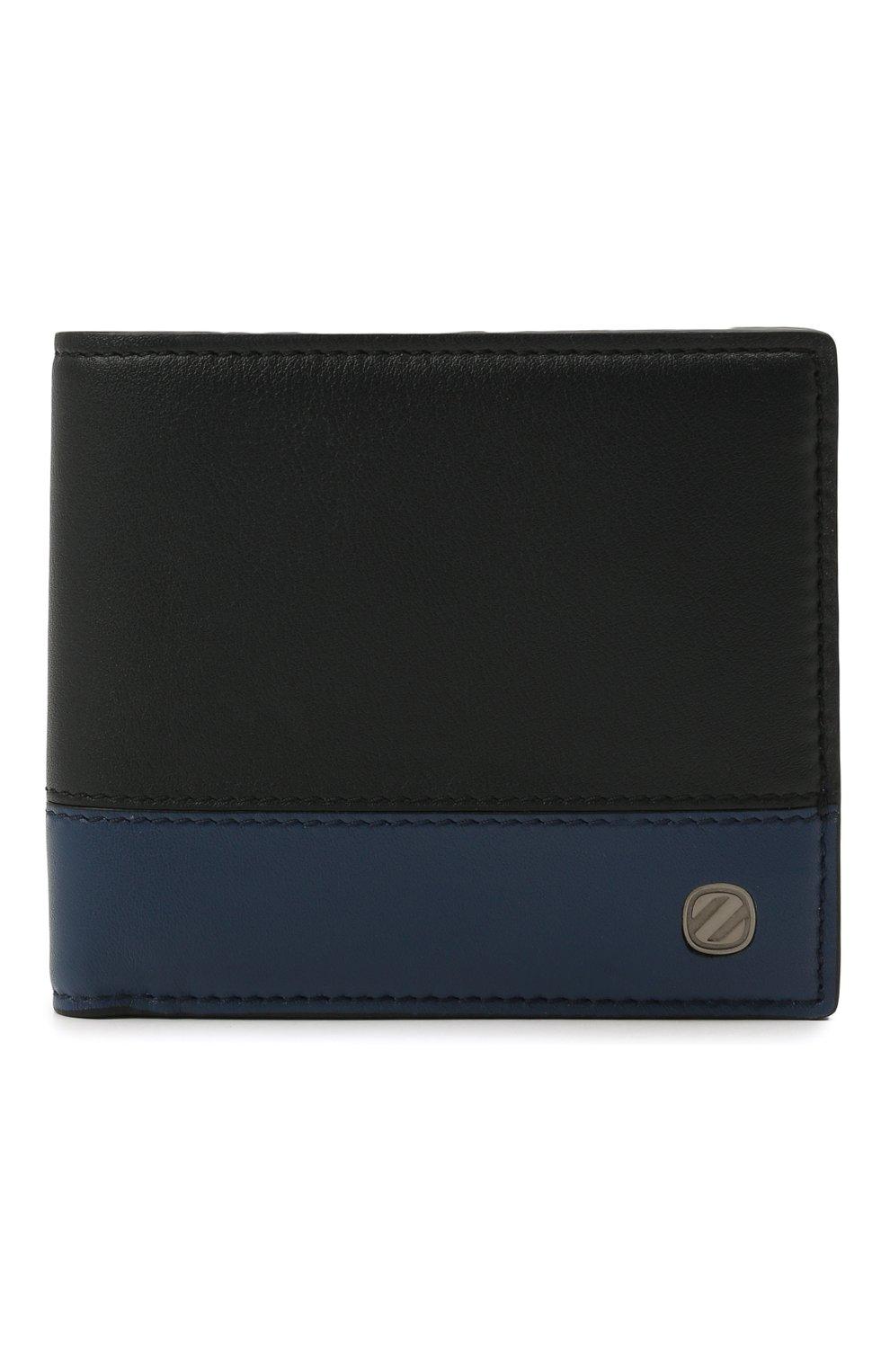 Мужской кожаное портмоне ERMENEGILDO ZEGNA темно-синего цвета, арт. E1733W-LHMGT | Фото 1