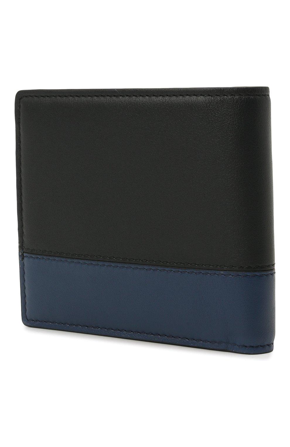 Мужской кожаное портмоне ERMENEGILDO ZEGNA темно-синего цвета, арт. E1733W-LHMGT | Фото 2