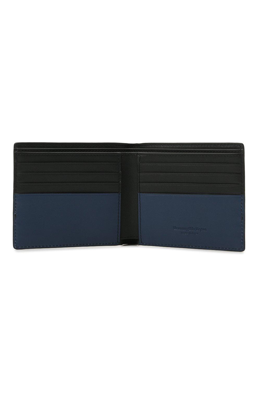 Мужской кожаное портмоне ERMENEGILDO ZEGNA темно-синего цвета, арт. E1733W-LHMGT | Фото 3