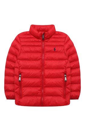 Детский утепленная куртка POLO RALPH LAUREN красного цвета, арт. 321847233 | Фото 1