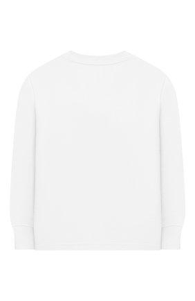 Детская хлопковый лонгслив POLO RALPH LAUREN белого цвета, арт. 322843804 | Фото 2