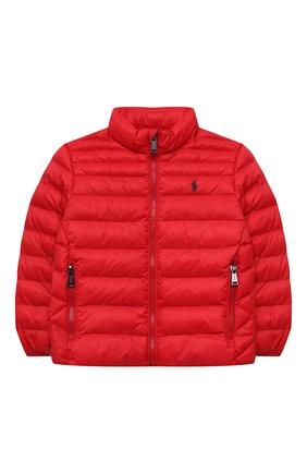 Детский утепленная куртка POLO RALPH LAUREN красного цвета, арт. 322847233 | Фото 1