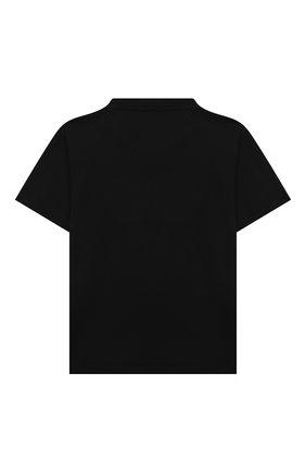 Детская хлопковая футболка BALENCIAGA черного цвета, арт. 556155/TKVC5   Фото 2