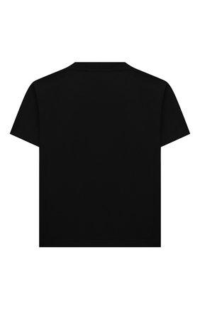 Детская хлопковая футболка BALENCIAGA черного цвета, арт. 556155/TKV55   Фото 2