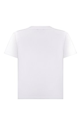 Детская хлопковая футболка BALENCIAGA белого цвета, арт. 556155/TKVC5 | Фото 2
