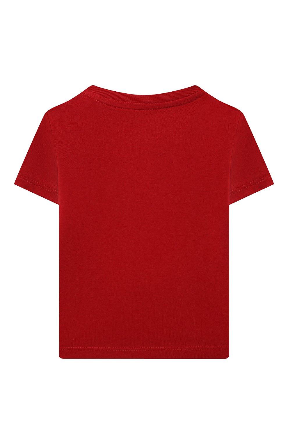 Детский хлопковая футболка POLO RALPH LAUREN красного цвета, арт. 320832904 | Фото 2 (Рукава: Короткие; Материал внешний: Хлопок; Ростовка одежда: 9 мес | 74 см, 12 мес | 80 см)