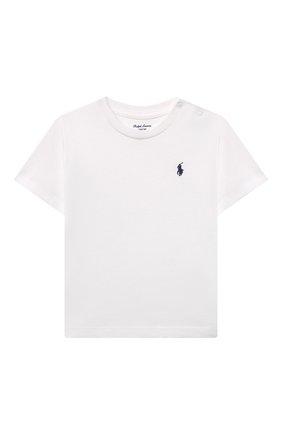 Детский хлопковая футболка POLO RALPH LAUREN белого цвета, арт. 320832904 | Фото 1