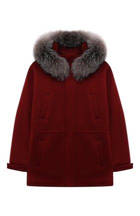 Детское кашемировое пальто LORO PIANA бордового цвета, арт. FAF8661 | Фото 1 (Материал внешний: Шерсть, Кашемир; Материал подклада: Вискоза; Рукава: Длинные; Длина (верхняя одежда): Короткие; Кросс-КТ: Сезон: зима; Ростовка одежда: 10 - 11 лет | 140 - 146см, 12 лет | 152 см, 2 года | 92 см, 4 года | 104 см, 6 лет | 116 см, 8 лет | 128 см)