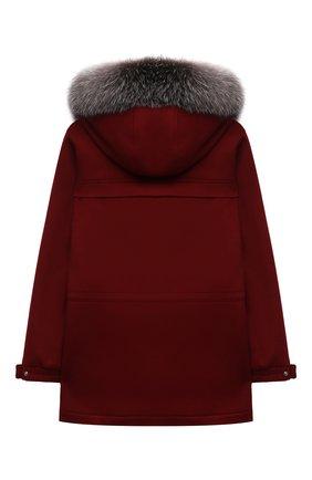 Детское кашемировое пальто LORO PIANA бордового цвета, арт. FAF8661 | Фото 2 (Материал внешний: Шерсть, Кашемир; Материал подклада: Вискоза; Рукава: Длинные; Длина (верхняя одежда): Короткие; Кросс-КТ: Сезон: зима; Ростовка одежда: 10 - 11 лет | 140 - 146см, 12 лет | 152 см, 2 года | 92 см, 4 года | 104 см, 6 лет | 116 см, 8 лет | 128 см)