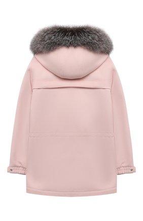 Детское кашемировое пальто LORO PIANA светло-розового цвета, арт. FAF8661 | Фото 2