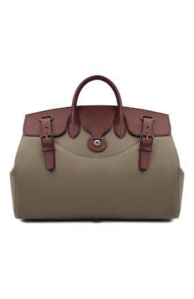 Мужская комбинированная дорожная сумка RALPH LAUREN бежевого цвета, арт. 437845309   Фото 1
