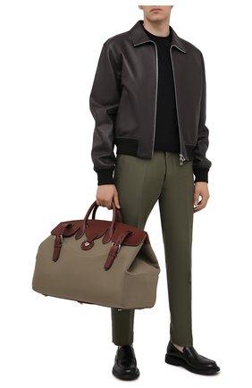 Мужская комбинированная дорожная сумка RALPH LAUREN бежевого цвета, арт. 437845309   Фото 2