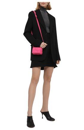 Женские кожаные мюли dot BOTTEGA VENETA черного цвета, арт. 667191/VBP40 | Фото 2 (Материал внутренний: Натуральная кожа; Подошва: Плоская; Каблук тип: Шпилька; Каблук высота: Высокий)