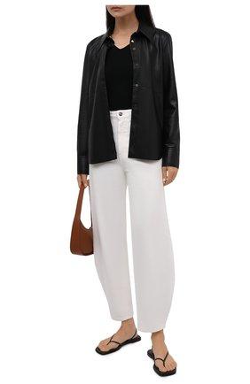 Женская рубашка из экокожи NANUSHKA черного цвета, арт. NW20CRSH02299   Фото 2