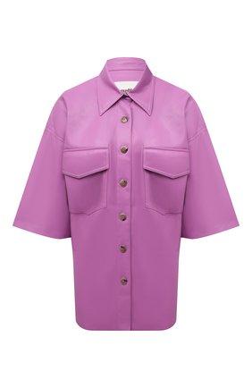 Женская рубашка из экокожи NANUSHKA розового цвета, арт. NW21PFSH01132 | Фото 1
