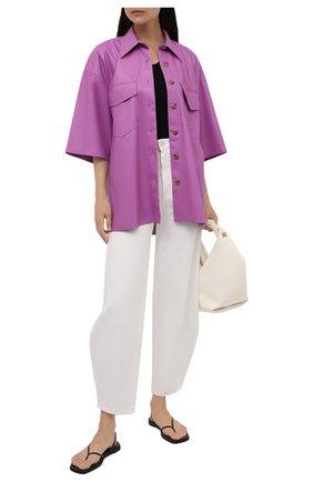 Женская рубашка из экокожи NANUSHKA розового цвета, арт. NW21PFSH01132 | Фото 2