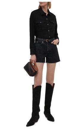 Женская льняная рубашка JAMES PERSE черного цвета, арт. WLSL3647 | Фото 2