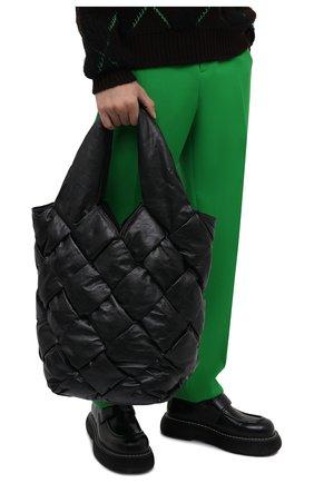 Мужская сумка-тоут cassette BOTTEGA VENETA черного цвета, арт. 666869/VCQ70 | Фото 2