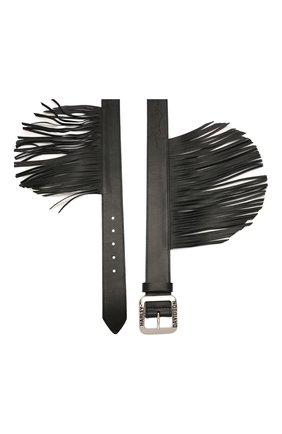 Женский кожаный ремень HARLEY-DAVIDSON черного цвета, арт. HDWBT10893-BLK | Фото 2 (Кросс-КТ: Широкие)