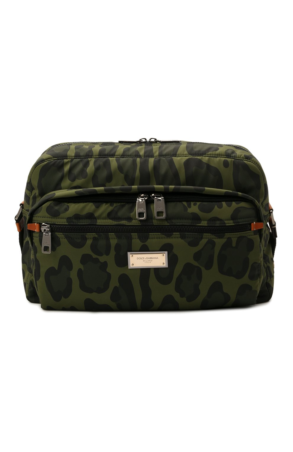 Мужская текстильная сумка DOLCE & GABBANA зеленого цвета, арт. BM1955/A0885 | Фото 1