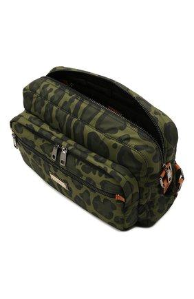 Мужская текстильная сумка DOLCE & GABBANA зеленого цвета, арт. BM1955/A0885 | Фото 4