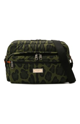 Мужская текстильная сумка DOLCE & GABBANA зеленого цвета, арт. BM1955/A0885 | Фото 5