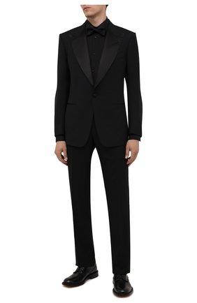 Мужская хлопковая сорочка DOLCE & GABBANA черного цвета, арт. G5EN5T/FU5K9 | Фото 2