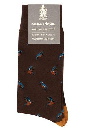 Мужские носки PANTHERELLA темно-коричневого цвета, арт. YS4068 | Фото 1