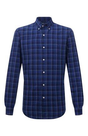 Мужская хлопковая рубашка POLO RALPH LAUREN синего цвета, арт. 710829473/5386   Фото 1