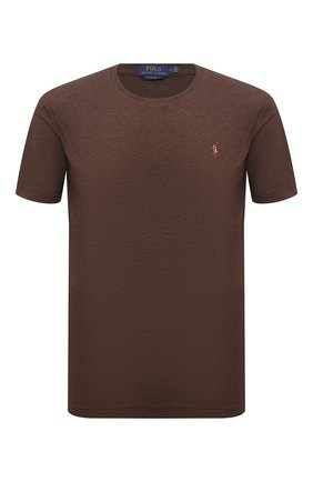 Мужская хлопковая футболка POLO RALPH LAUREN коричневого цвета, арт. 710740727   Фото 1