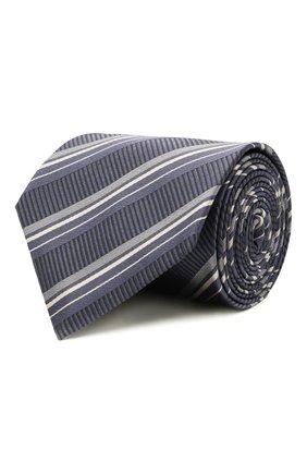 Мужской шелковый галстук BRIONI синего цвета, арт. 062I00/01417 | Фото 1 (Материал: Текстиль, Шелк; Принт: С принтом)