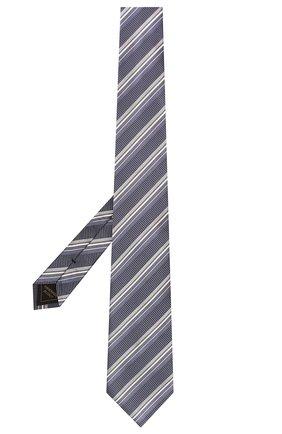 Мужской шелковый галстук BRIONI синего цвета, арт. 062I00/01417 | Фото 2 (Материал: Текстиль, Шелк; Принт: С принтом)