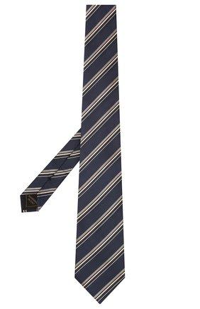 Мужской шелковый галстук BRIONI темно-синего цвета, арт. 062I00/01417 | Фото 2 (Материал: Текстиль, Шелк; Принт: С принтом)