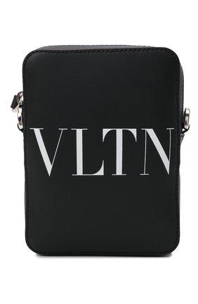 Мужская кожаная сумка VALENTINO черного цвета, арт. WY2B0943/WJW | Фото 1