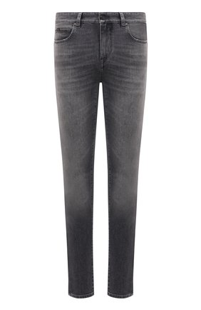 Мужские джинсы Z ZEGNA серого цвета, арт. VY711/ZZ530 | Фото 1 (Длина (брюки, джинсы): Стандартные; Материал внешний: Хлопок; Силуэт М (брюки): Прямые; Стили: Кэжуэл; Кросс-КТ: Деним; Детали: Потертости)