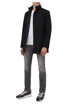 Мужские джинсы Z ZEGNA серого цвета, арт. VY711/ZZ530 | Фото 2 (Длина (брюки, джинсы): Стандартные; Материал внешний: Хлопок; Силуэт М (брюки): Прямые; Стили: Кэжуэл; Кросс-КТ: Деним; Детали: Потертости)