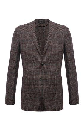 Мужской шерстяной пиджак Z ZEGNA коричневого цвета, арт. 254739/1D7SG0 | Фото 1