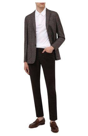 Мужской шерстяной пиджак Z ZEGNA коричневого цвета, арт. 254739/1D7SG0 | Фото 2