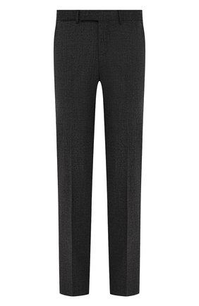 Мужские шерстяные брюки ERMENEGILDO ZEGNA темно-серого цвета, арт. 244F00/75TB12 | Фото 1 (Длина (брюки, джинсы): Стандартные; Материал внешний: Шерсть; Случай: Формальный; Стили: Классический; Материал подклада: Вискоза)