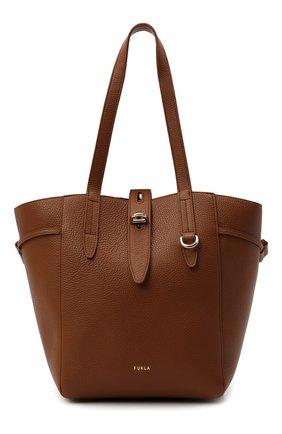 Женский сумка-тоут net medium FURLA коричневого цвета, арт. BZT0FUA/HSF000   Фото 1