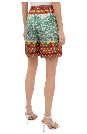 Женские шелковые шорты DOLCE & GABBANA разноцветного цвета, арт. FTAM7T/GDS12 | Фото 4 (Женское Кросс-КТ: Шорты-одежда; Материал внешний: Шелк; Стили: Гламурный; Длина Ж (юбки, платья, шорты): Мини)